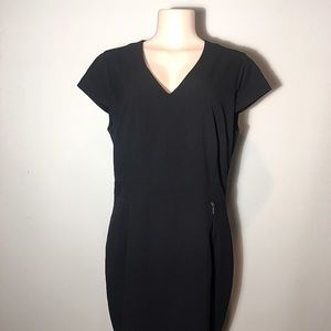 Andrew Marc Black Zipper Dress - B10